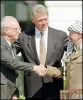 Les accords d'Oslo. Ithzak Rabin, Bill Clinton et Yasser Arafat