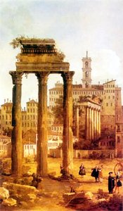 Ruines du Forum vers le Capitole, par Canaletto - Angleterre, collections royales